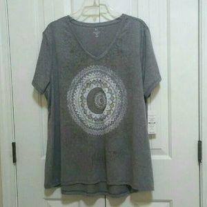 Hannah Plus Size Gray T-shirt size 2X